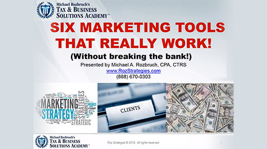 6 Marketing Tools That REALLY Work!