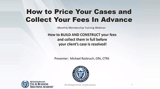 How to Price Your Cases and Collect Your Fees in Advance