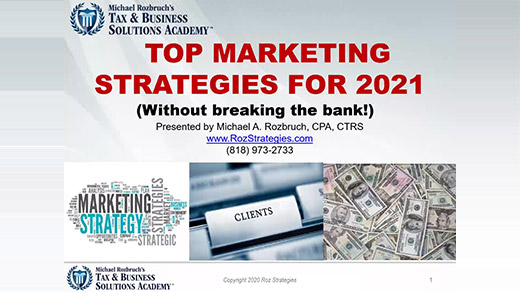 Top Marketing Strategies for 2021!