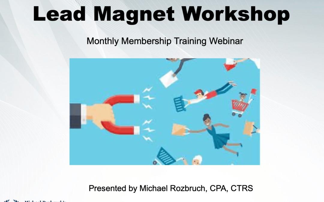 Lead Magnet Workshop